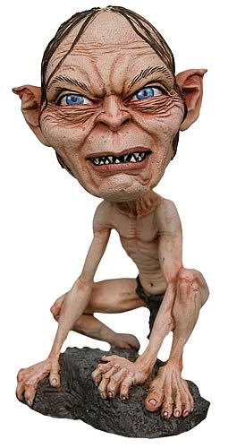 lord of the rings gollum bobble head entertainment earth