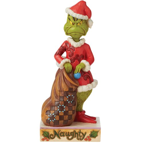 Dr. Seuss The Grinch Grinch Two-Sided Naughty and Nice by Jim Shore Statue