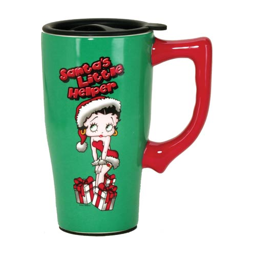 Betty Boop Christmas 18 oz. Ceramic Travel Mug with Handle