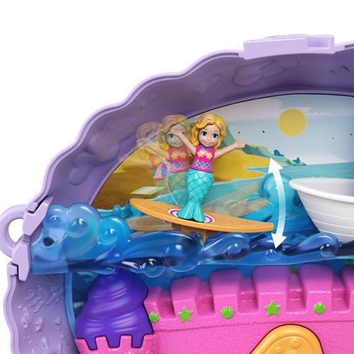 Polly Pocket Tiny Power Seashell Purse Compact
