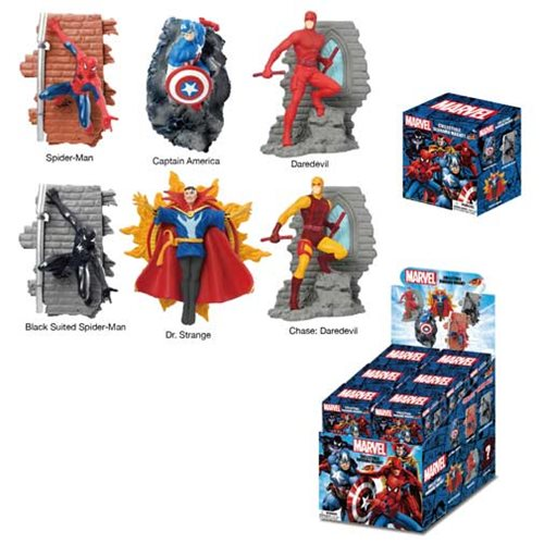 Marvel Super Hero Series 1 Diorama Magnets Random 4-Pack