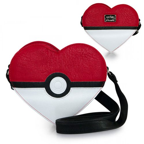 Pokemon Pokeball Heart-Shaped Crossbody Purse