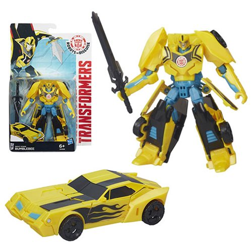 Transformers Robots in Disguise Warrior Class Night Strike Bumblebee, Not Mint