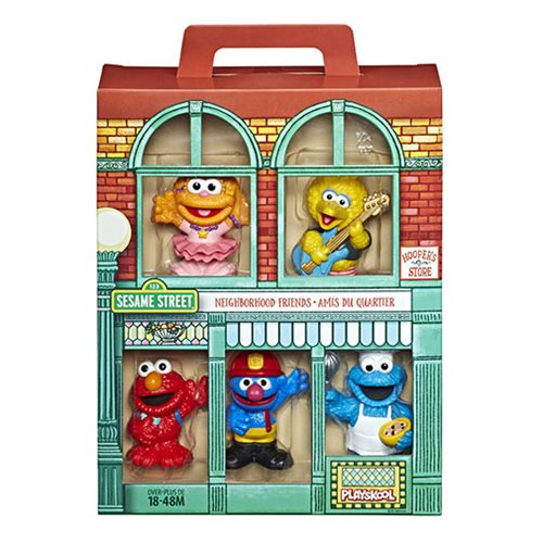 Sesame Street Neighborhood Friends Mini-Figures Wave 1 Set