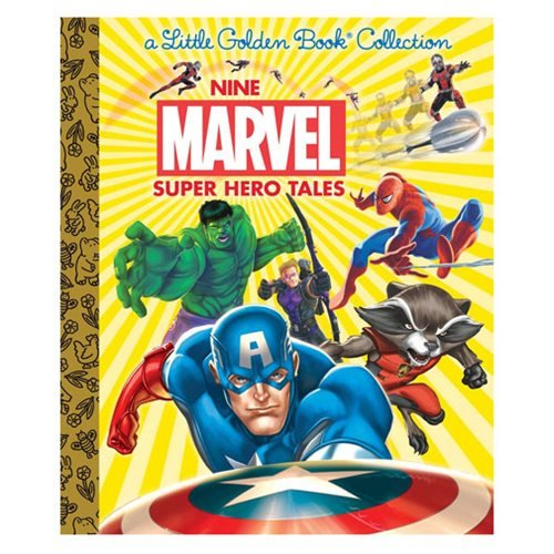Marvel Nine Marvel Super Hero Tales Little Golden Book