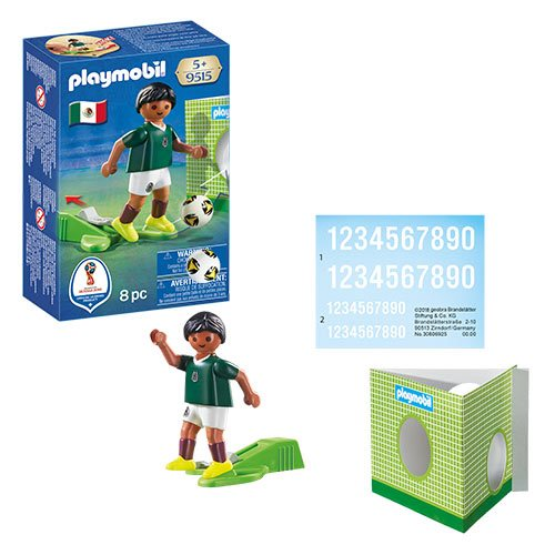 Playmobil 9515 Soccer National Team Player Mexico Action Figure