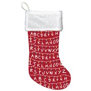 Stranger Things Lights Red and White Printed Stocking