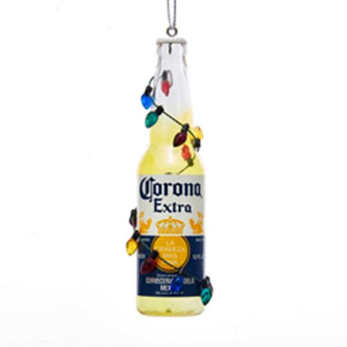 Corona Bottle with Garland 4 1/2-Inch Ornament