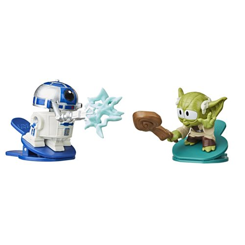 Star Wars Battle Bobblers Showdowns R2-D2 vs. Yoda Bobbleheads