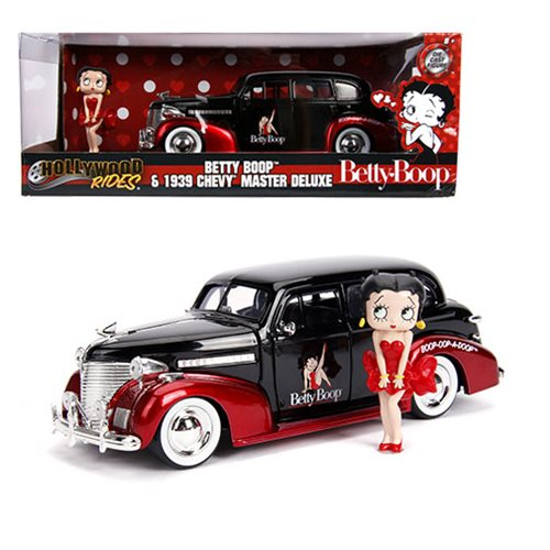 Betty Boop 1939 Chevy Master Deluxe Die-Cast Metal Vehicle with 2 3/4-Inch Figure