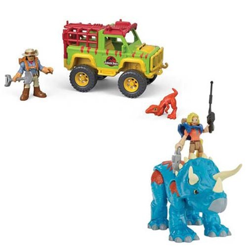 Jurassic Park Imaginext Feature Figure 2-Pack Case