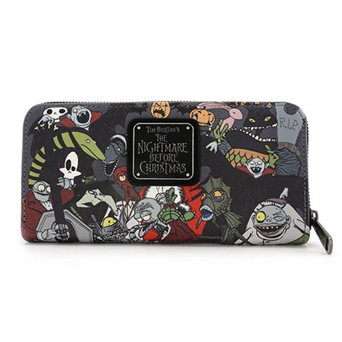 Nightmare Before Christmas Character Zip Around Wallet