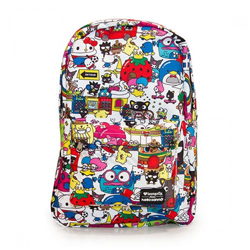 Hello Kitty Hello Sanrio Town Print Backpack