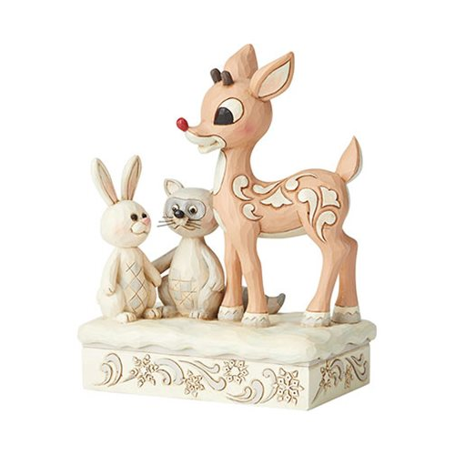 Rudolph the Red-Nosed Reindeer Woodland Rudolph with Friends by Jim Shore Statue
