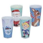 Rudolph the Red-Nosed Reindeer 16 oz. Glass Set of 4