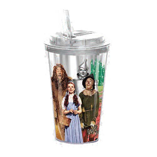 The Wizard of Oz Cast Photo 16 oz. Flip-Straw Travel Cup