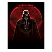 Star Wars Vader Red Glowing Death Star Metallic Canvas Print