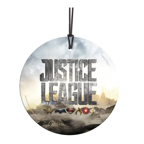 Justice League Logo StarFire Prints Hanging Glass Ornament