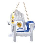 Corona Beach Chair Resin 2 3/4-Inch Ornament