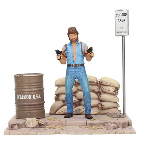 Invasion U.S.A. Matt Hunter Statue with Diorama