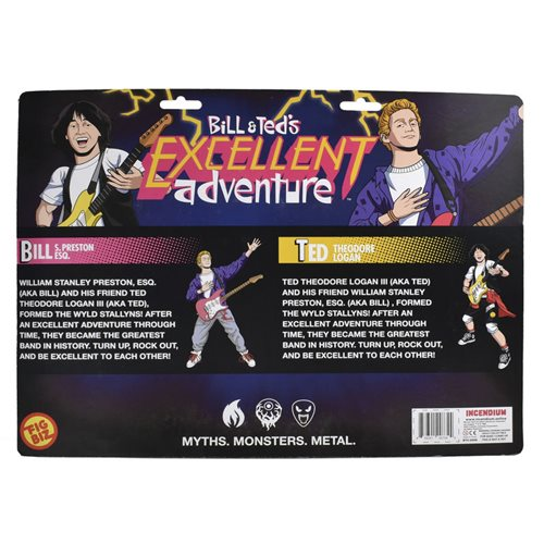 Bill & Ted's Excellent Adventure Air Guitar Ed. 5-Inch FigBiz Action Figure Set of 2