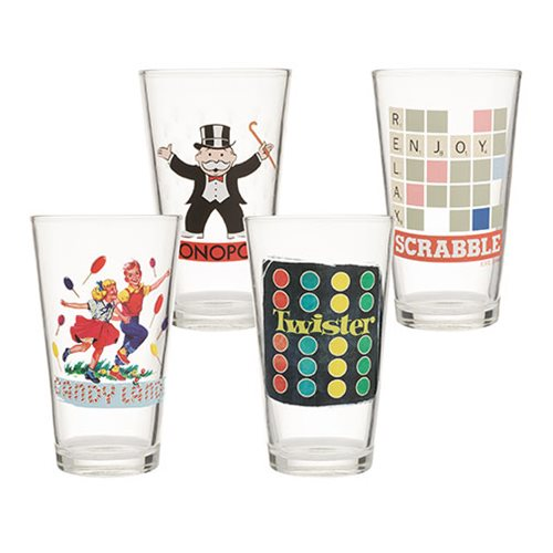 Hasbro Games 4 pc. 16 oz. Glass Set