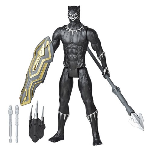 Avengers Titan Hero Series Blast Gear Deluxe Black Panther 12-Inch Action Figure
