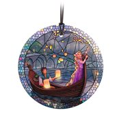 Disney Tangled Stained Glass Effect Thomas Kinkade StarFire Prints Glass Ornament