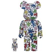 Keith Haring Design 100% and 400% Bearbrick Figures