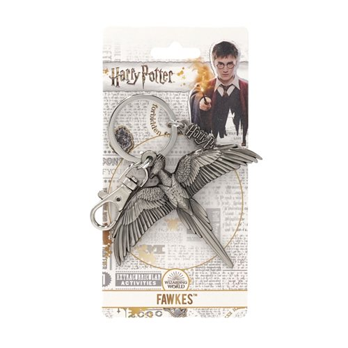 Harry Potter Fawkes the Phoenix Pewter Key Chain