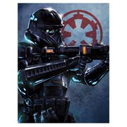 Star Wars Rogue One Death Trooper by Santi Casas Canvas Giclee Art Print