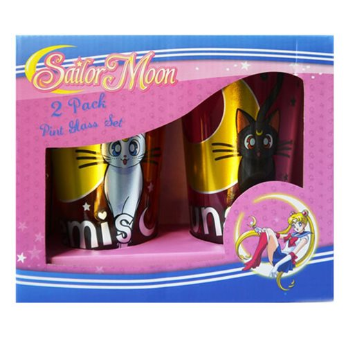 Sailor Moon Luna and Artemis Pint Glass 2-Pack