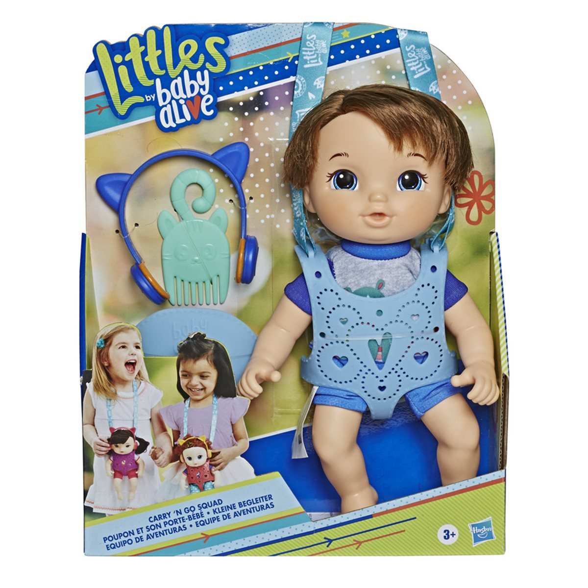 Baby Alive Carry N Go Squad Little Matteo Brown Hair Boy Doll Entertainment Earth