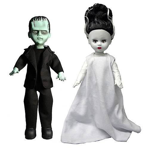 Living Dead Dolls Frankenstein and the Bride Doll Set