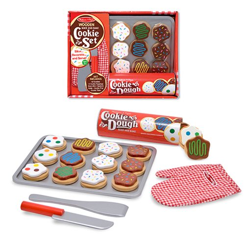 Slice and Bake Cookie Set Wooden Food Playset
