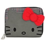 Hello Kitty Grey Plaid Zip-Around Wallet