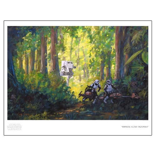 Star Wars Imperial Scout Troopers by Cliff Cramp Paper Giclee Art Print