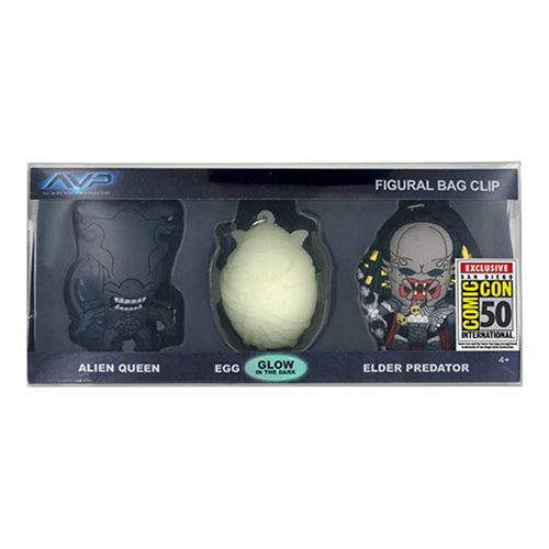Alien vs Predator Bag Clip 3-Pack - San Diego Comic-Con 2019 Exclusive