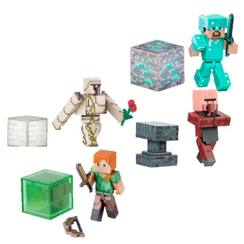 Minecraft 3-Inch Core Character Action Figure Wave 2 Case