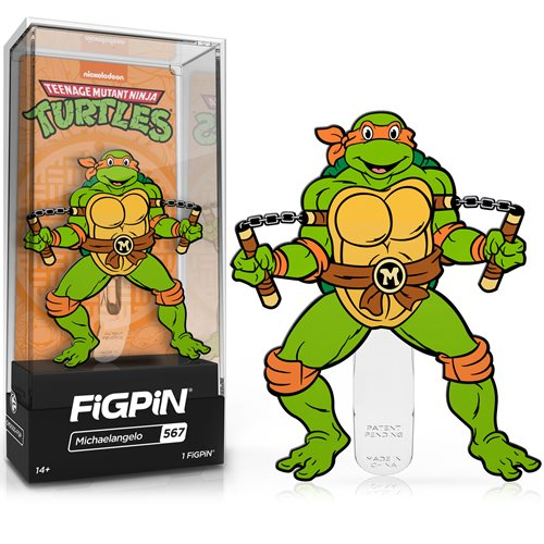 Teenage Mutant Ninja Turtles Michelangelo FiGPiN Classic Enamel Pin