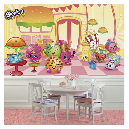 Shopkins XL Chair Rail Prepasted Mural