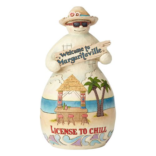 Margaritaville Tiki Snowman License To Chill Heartwood Creek Statue by Jim Shore