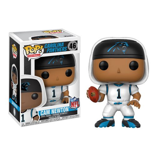 NFL Cam Newton Panthers White Wave 4 Pop! Vinyl Figure #46