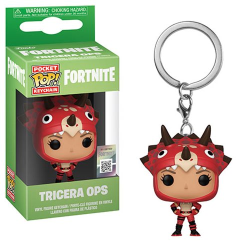 Fortnite Tricera Ops Pocket Pop! Key Chain