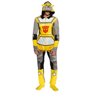 Transformers Bumblebee Hooded Unisex Onesie with Thumb Holes and Removable Feet