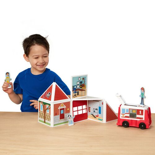 Magnetivity Fire Station Magnetic Building Play Set