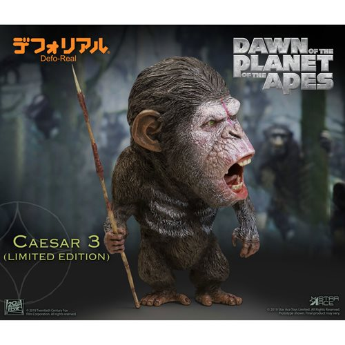 Rise of the Planet of the Apes Caesar V3 Defo Real Soft Vinyl Statue
