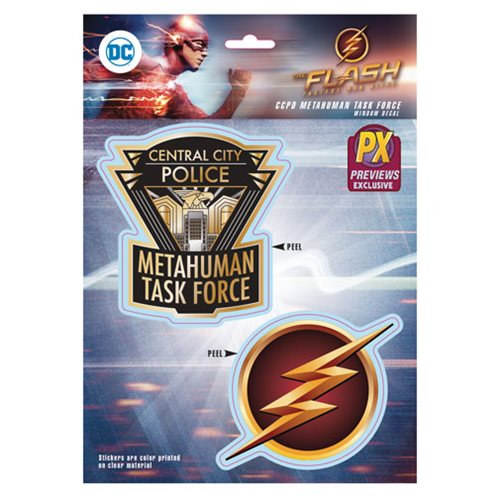 Flash TV CCPD Metahuman Taskforce Decals - Previews Exclusive