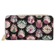 Disney Villains Pastel Flames Zip-Around Wallet