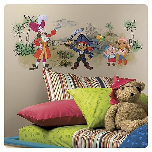 Captain Jake and the Never Land Pirates Scene Peel and Stick Giant Wall Graphic